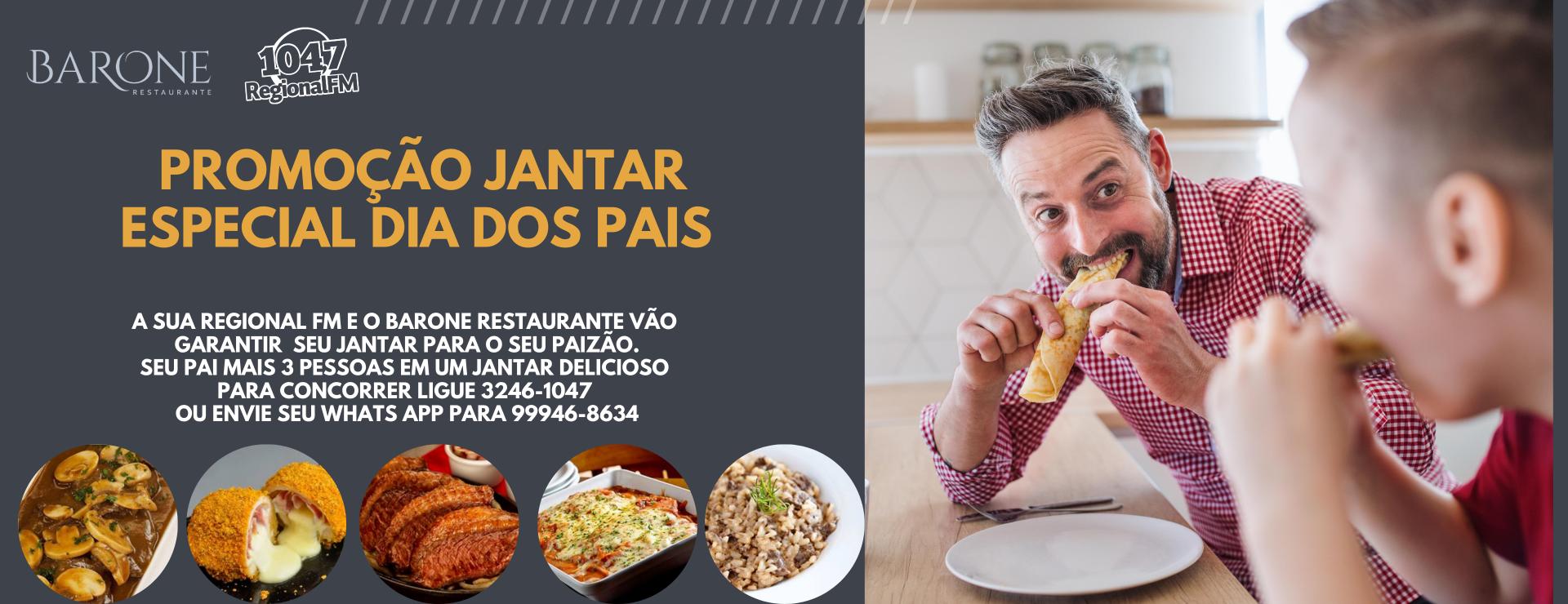 Promoção jantar especial dia dos Pais